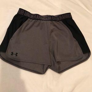 Grey Under Armour athletic shorts